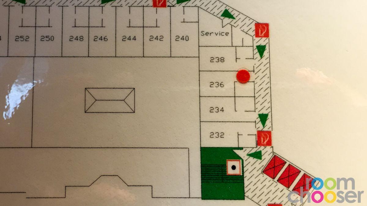 Accessible hotel room Austria Trend Hotel Ananas, 236, Floor plan