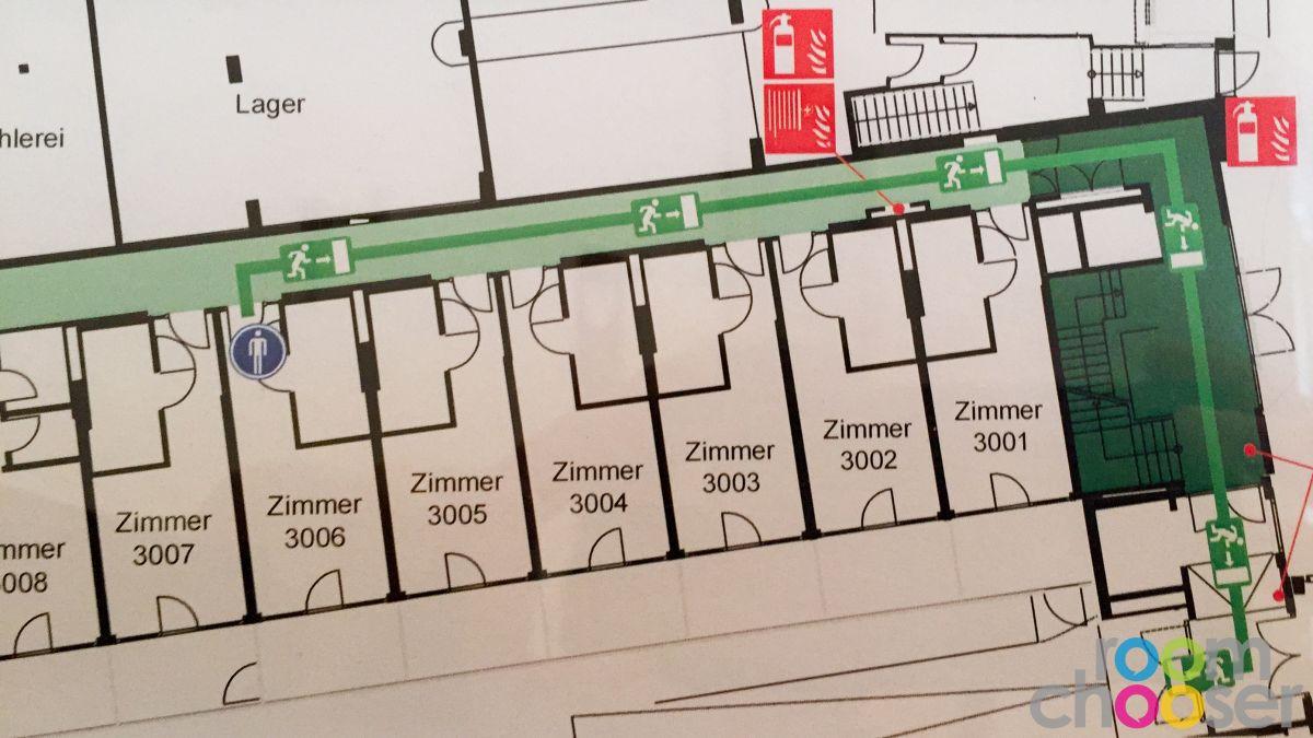 Accessible hotel room Austria Trend Parkhotel Schönbrunn, 3001 3003 3005 3007, Floor plan