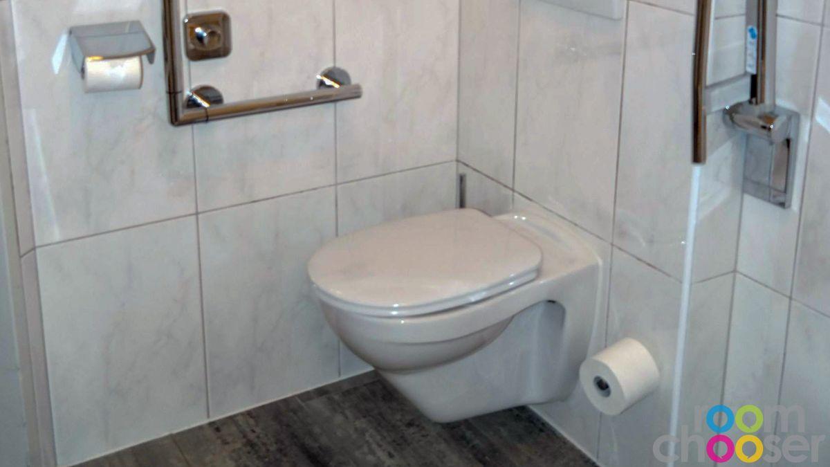 Accessible hotel room Das Grüne Hotel zur Post, 103, Toilet