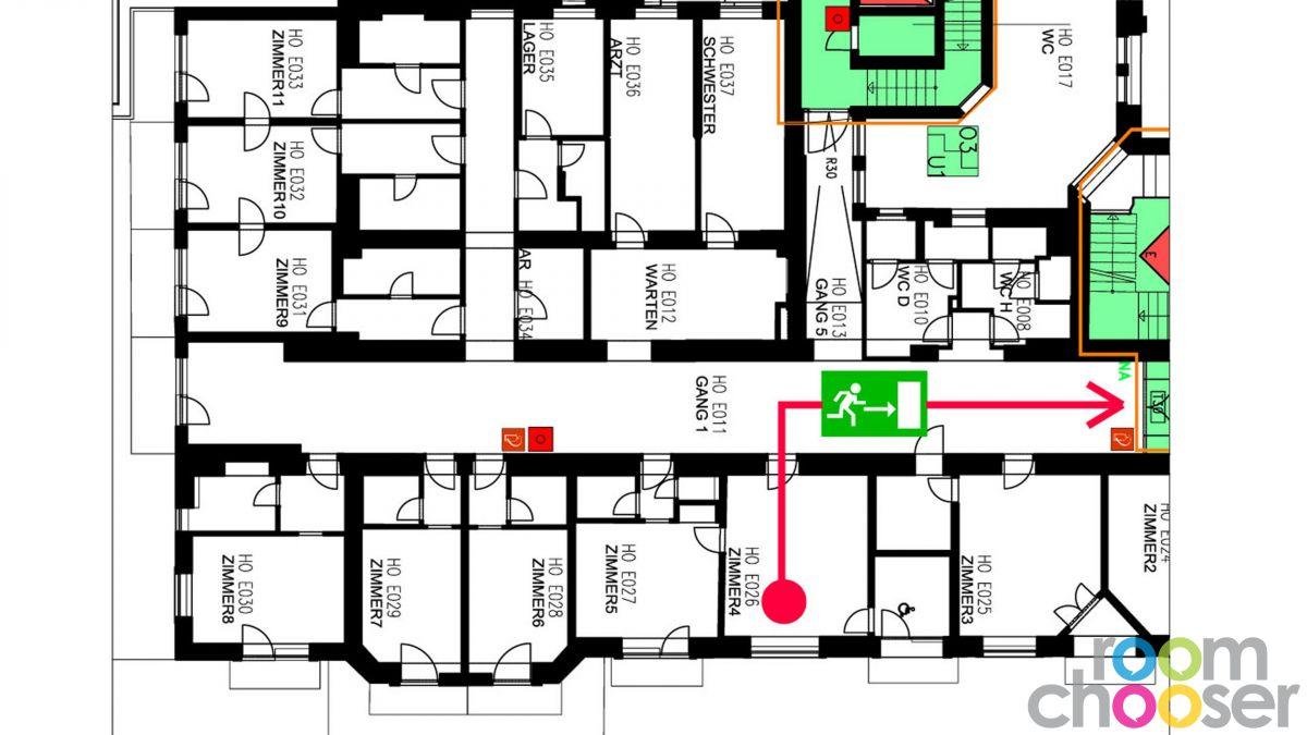 Accessible hotel room Hotel Miraverde, 4, Floor plan