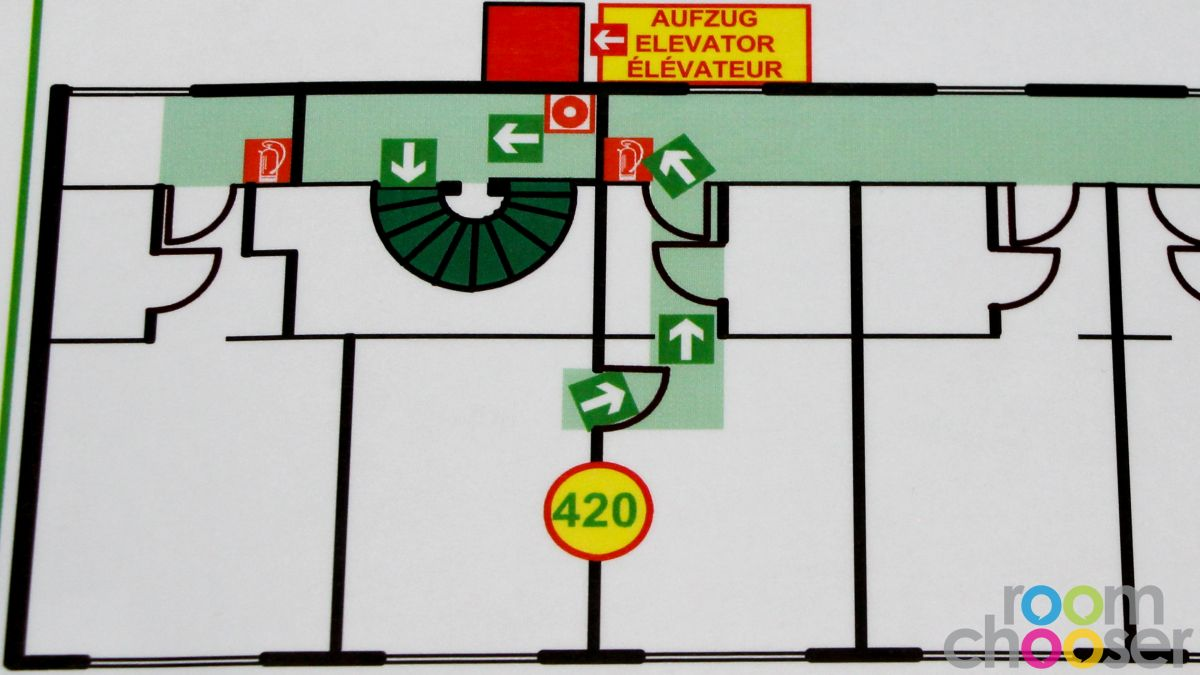 Accessible hotel room Hotel Praterstern, 420, Floor plan