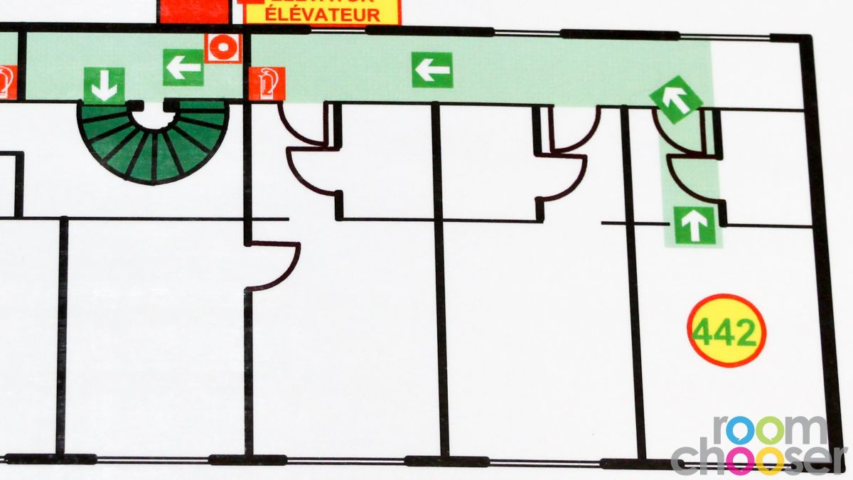 Accessible hotel room Hotel Praterstern, 442, Floor plan
