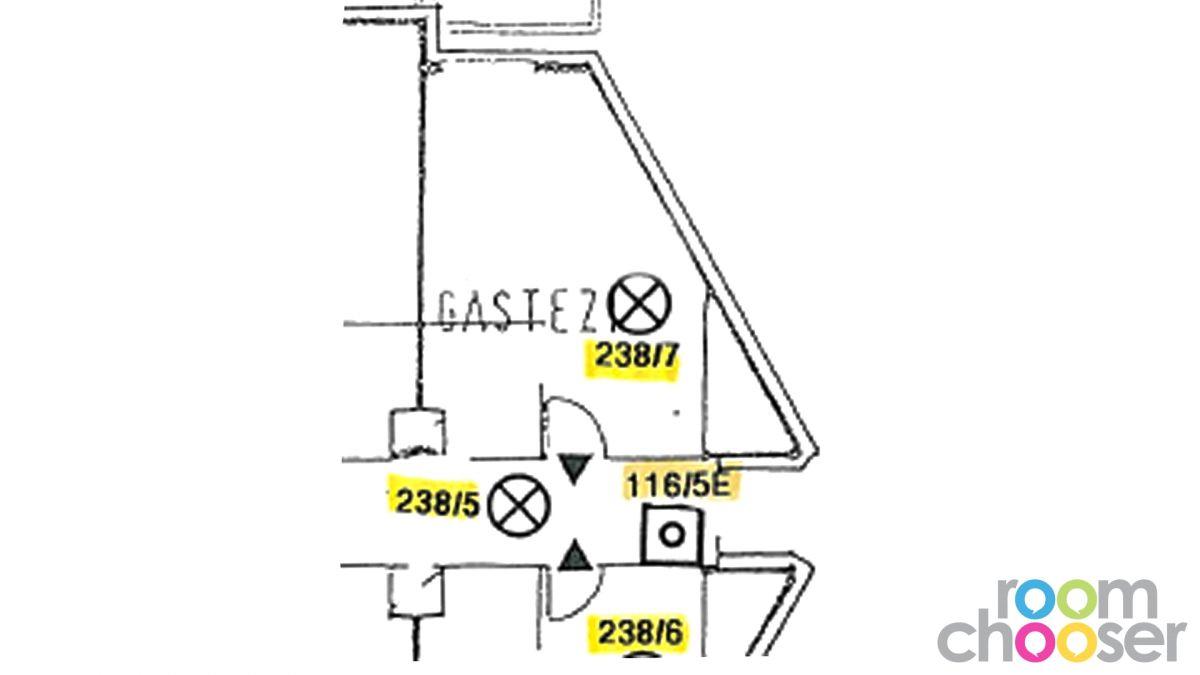 Accessible hotel room ibis Wien Mariahilf, 118, Floor plan
